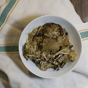 Wild Mushroom Bread Pudding Recipe